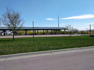 Farmer's Market pavilion at Falls Park in Sioux Falls, South Dakota