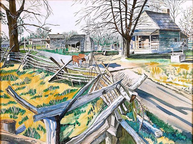 Hardie Gramatky, a farm scene