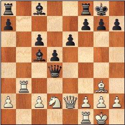 Partida de ajedrez Medina - Martínez Mocete, posición después de 16…bxc6