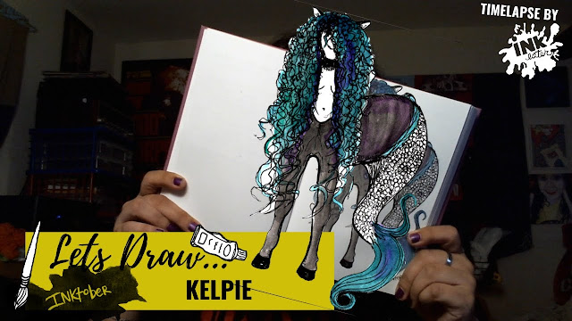 Drawing the Kelpie - Exploring Cryptids Worldwide