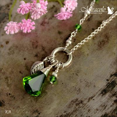 Miracolo, peridot, peridot quartz kite shape, wisiorek z peridotem, kwarc zielony, green quartz pendant