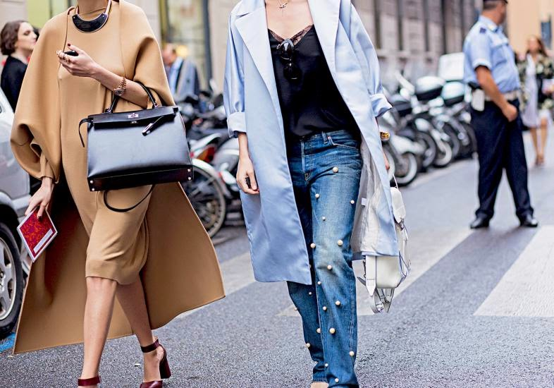 Jeans ostentação discreto com aplicações