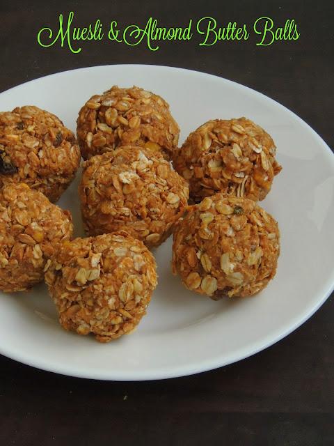 Muesli & Almond Butter Balls