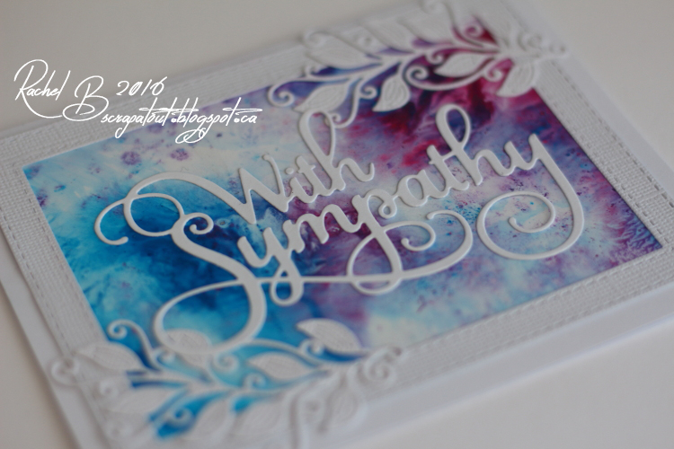 Scrapatout - Handmade card, Sympathy, Splashes