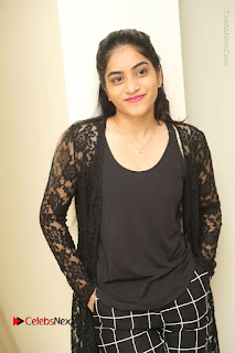Actress Punarnavi Bhupalam Stills in Black Dress at Pittagoda Press Meet  0057.JPG