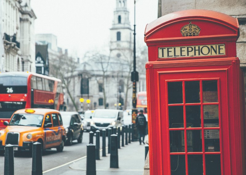 A phone box with a view of St Clement Danes church outside theRoyal Courts of Justice, which was featured in Bridget Jones's Baby in a post about saying goodbye to London.