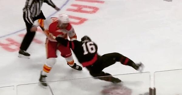 lucic watson fight nhl hockey