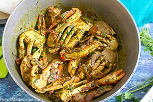 Tobago Curry Crab and Dumplings