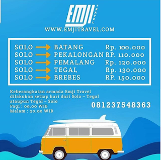 JADWAL TRAVEL SOLO TEGAL
