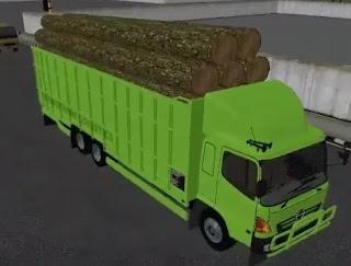 Mod Hino truck Muatan Kayu