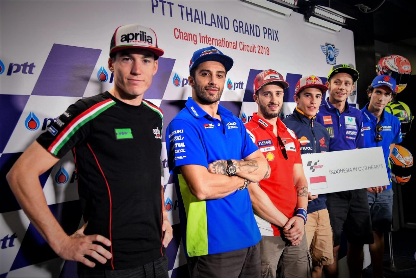 Dari Thailand, Pembalap MotoGP: Indonesia in Our Hearts