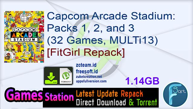 Capcom Arcade Stadium Packs 1, 2, and 3 (32 Games, MULTi13) [FitGirl Repack]