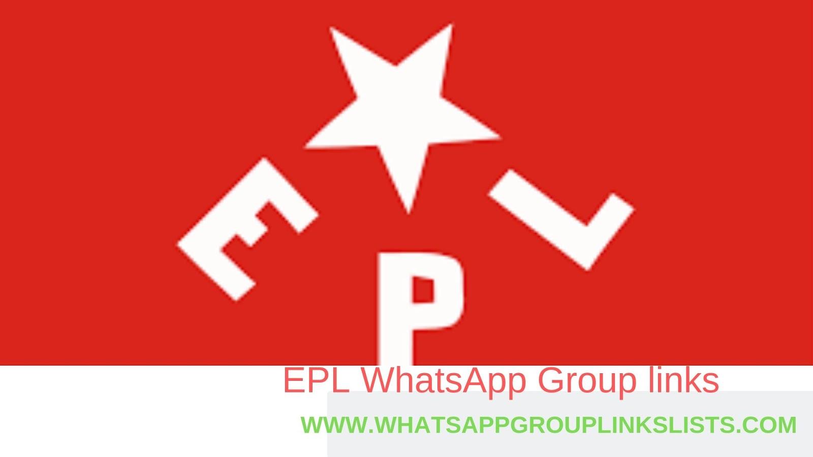 Join EPL WhatsApp Group Links List