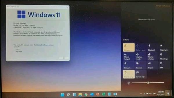 Tampilan windows 11