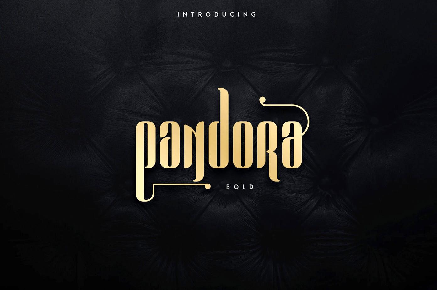 Pandora Font - Free Modern Display Font