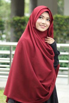 Gambar Tutorial Hijab Pashmina Syar'i Simple