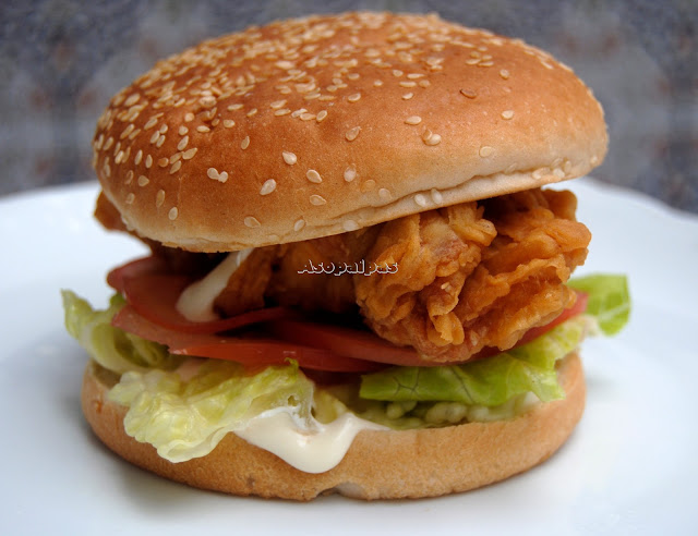 Hamburguesa de Pollo al Estilo Chicken Tender Crisp de Burger King