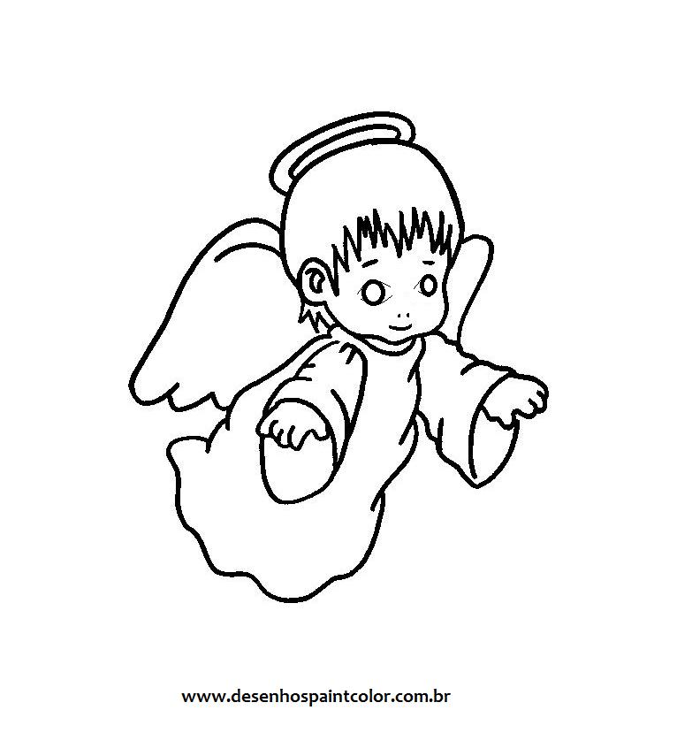 200 Figuras, Imagens, Moldes E Desenhos De Anjos! Colorir