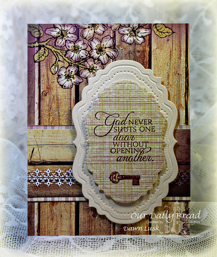 Stamps - Our Daily Bread Designs Key to Heaven, ODBD Custom Vintage Flourish Pattern Die, ODBD Custom Vintage Labels Die, ODBD Rustic Beauty Paper Collection