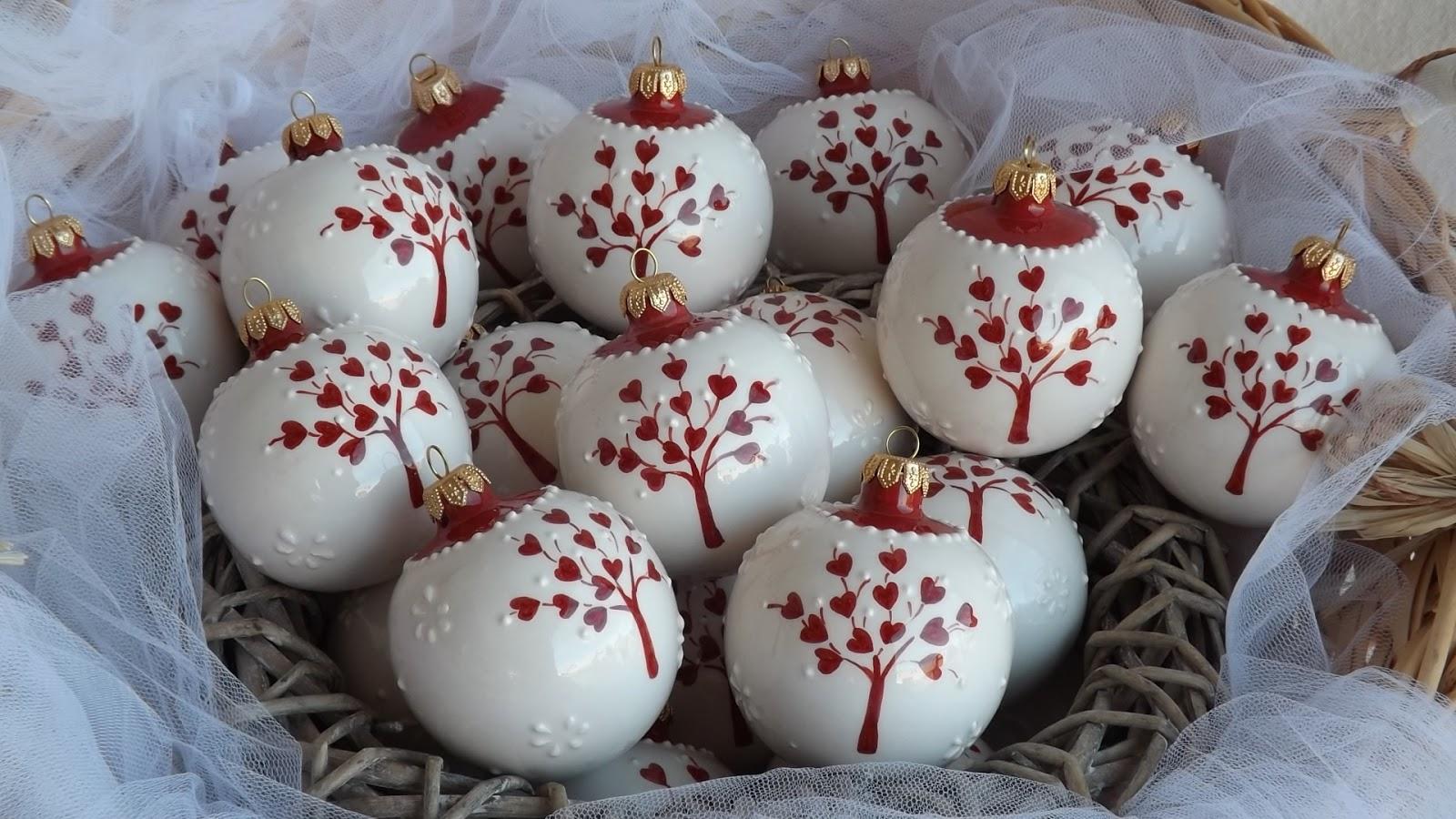 Amato ceramica come mestiere: Pallina di Natale come bomboniera per il  OF07