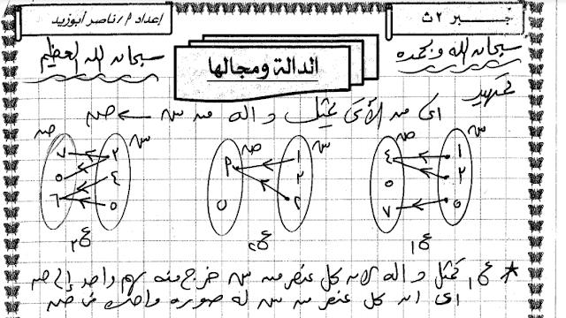 تحميل مذكرة جبر للصف الثاني الثانوي ترم اول 2020 مشتر ناصر أبوزيد