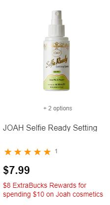 FREE JOAH Selfie Ready Setting Spray at CVS  1117-1123