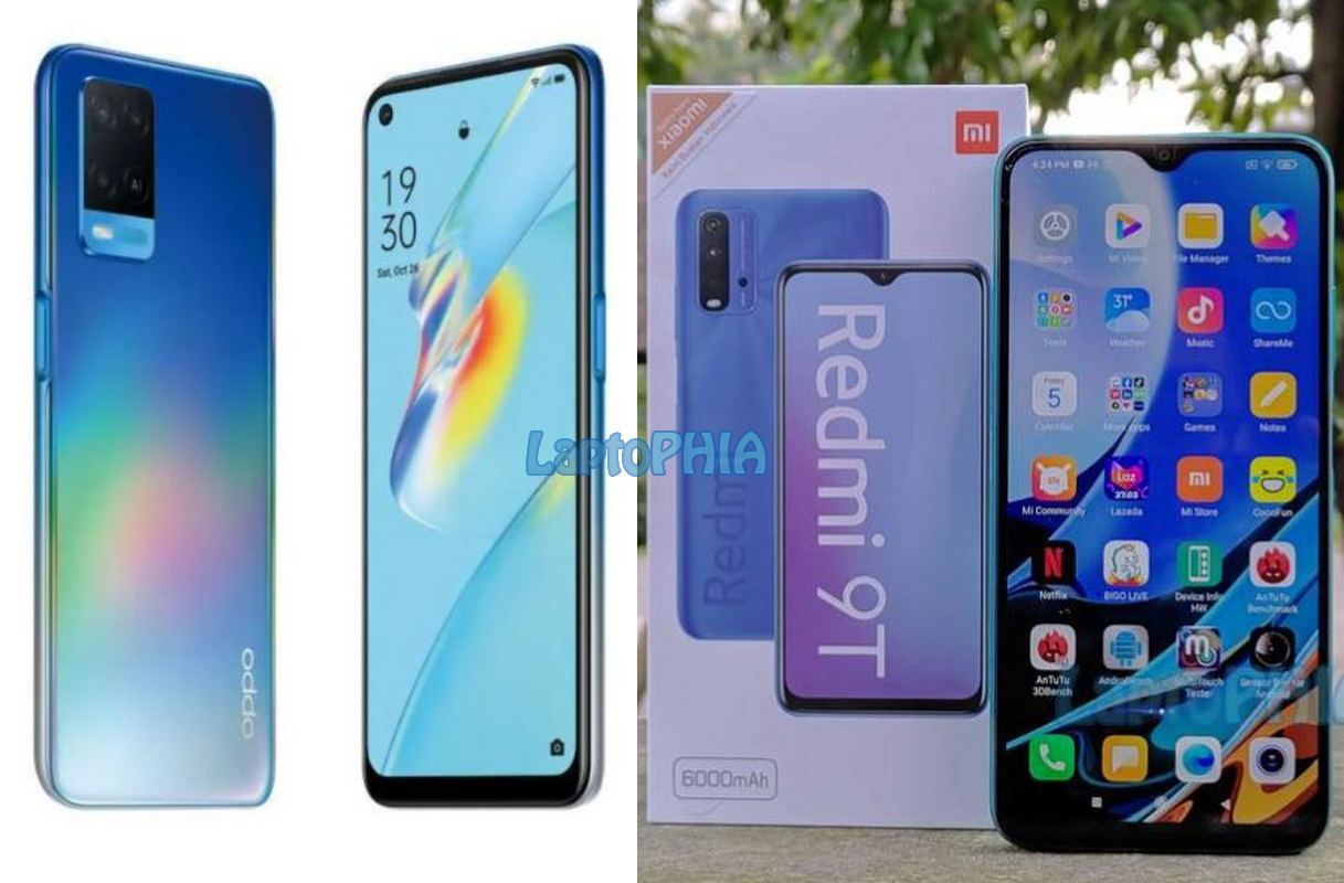 Komparasi Oppo A54 vs Xiaomi Redmi 9T: Mending Mana?