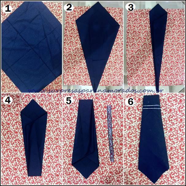 guardanapo em forma de gravata