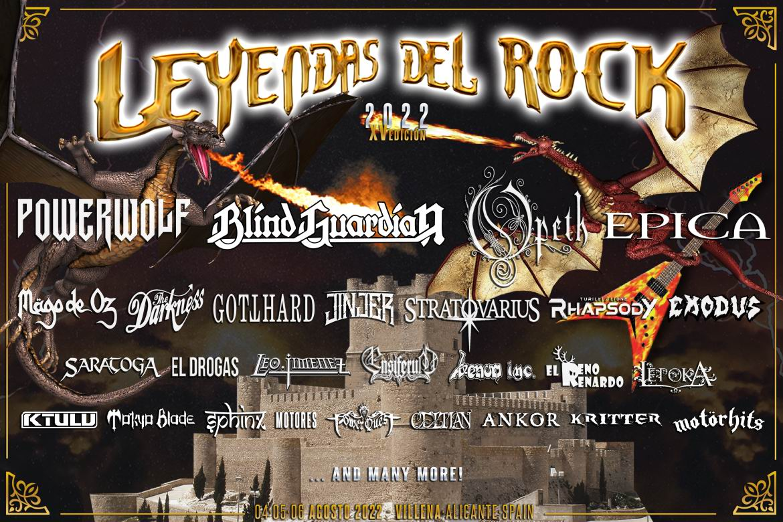leyendas del rock 2022