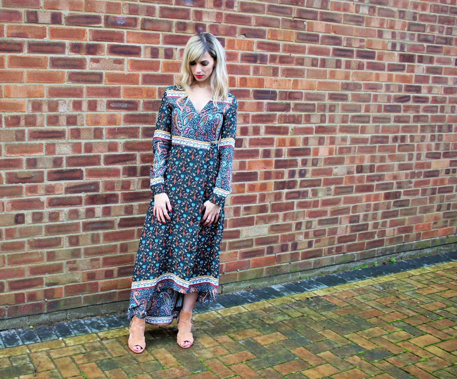 OOTD featuring a Shein wraparound maxi dress - 4
