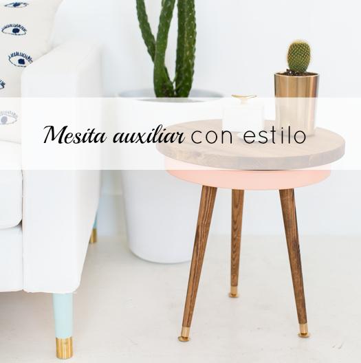 Diy Mesa Auxiliar Con Almacenaje Blanco Y De Madera