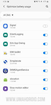Optimasi Baterai Android Untuk Signal