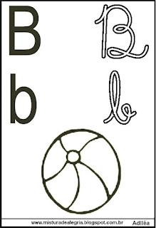 Alfabeto de parede para colorir