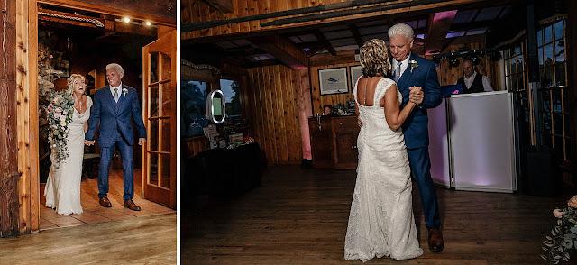 Bride and Groom entering Reception together
