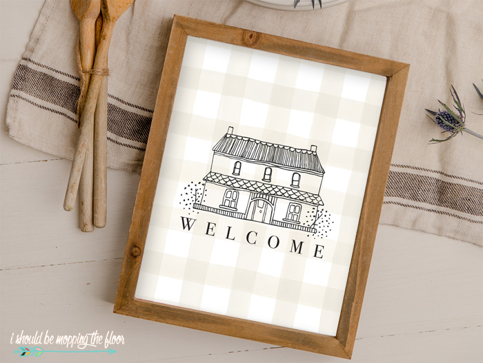 Welcome Printable for Home Decor