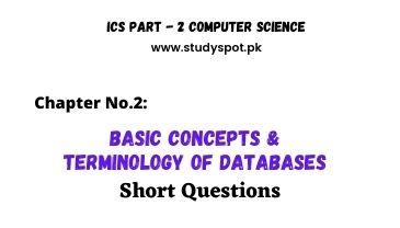 ics part 2 computer basic concepts of database short questions