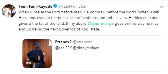 """Dino Melaye Might End Up Being The Next Governor Of Kogi"" - Femi Fani-Kayode"