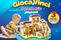 Logo Gioca e vinci 105 Grande Asilo Playmobil per i tuoi bambini