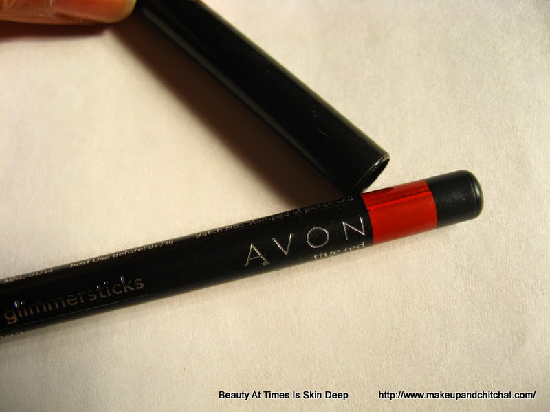 Review of Avon Glimmersticks lipliner in Brick red