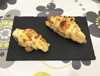 Croissants filled with coffee cream