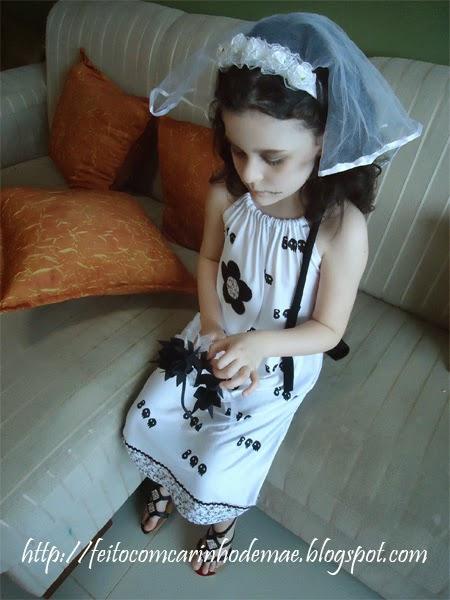 Fantasia para o halloween noiva fantasma