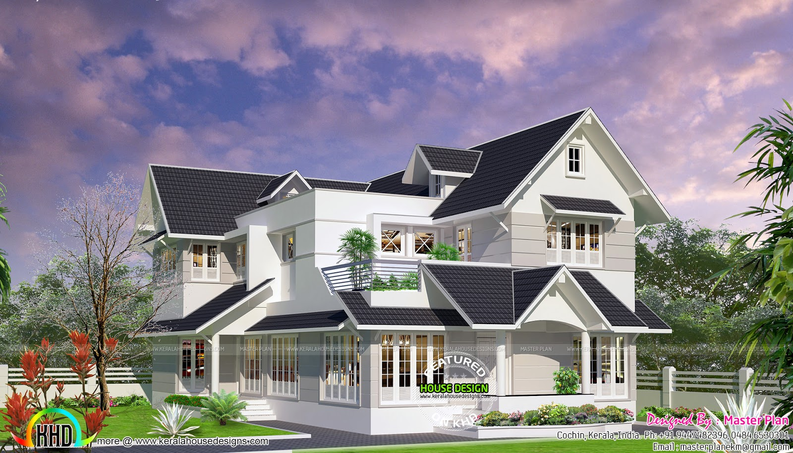 Colonial Touch Home In  Lakhs Kerala Home Design And Floor Plans - Colonial style home design in kerala