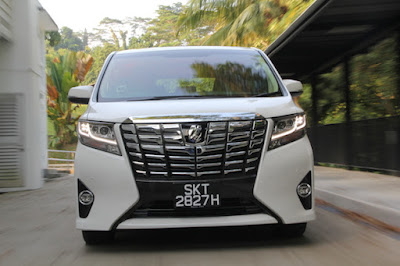 New 2016 Toyota Alphard Luxury MPV front view