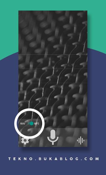 Pilih Format Rekaman Audio MP3 atau WAV