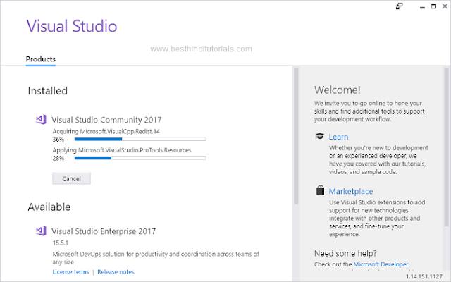 Installing-Microsoft-Visual-Studio-Expression-in-Hindi-11