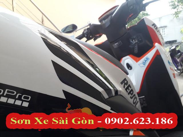 Sơn Tem Xe Honda Vario Repsol cực đẹp