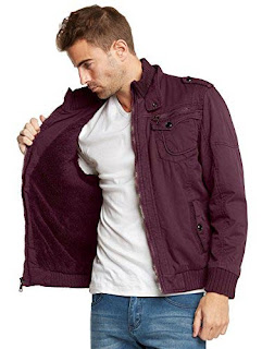 mens sherpa lined bomber jacket