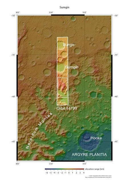 Mapa da superfície marciana