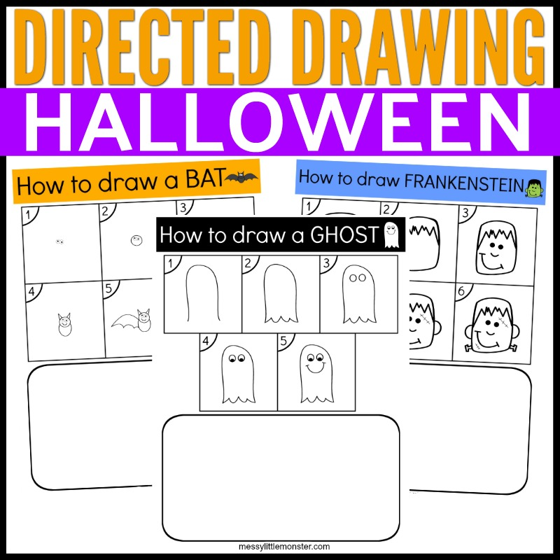 Halloween directed drawing pages