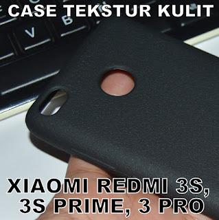 TPU-Jelly-Softcase-Leather-Texture-Case-Textur-Kulit-Xiaomi-Redmi-3s-Prime-3-Pro